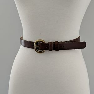 GAP Brown / Brass / Gold Leather Belt - Size 26